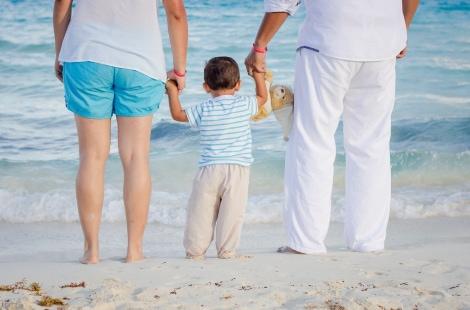Famiglia al mare a Cattolica
